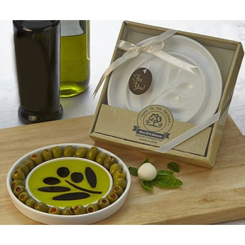 Taste of the Orchard Dipping Plate & Olive server